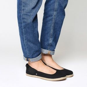 UGG Perrie canvas skimmer flats